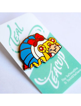 Chubby Sailor Moon Hard Enamel Pin by Teal Teacup Shop