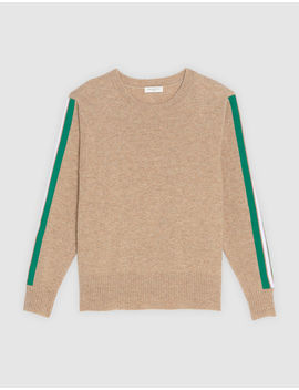 Round Neck Sweater With Braid Trim by Sandro Eshop
