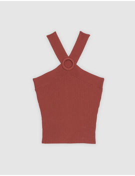 Fine Knit Top With Crossover Straps by Sandro Eshop