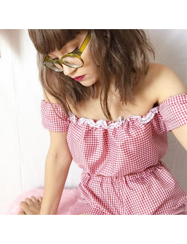 Red Gingham Two Piece Co Ord by Shes A Mermaid Cat