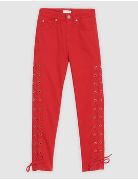 Cotton Trousers With Lacing by Sandro Eshop