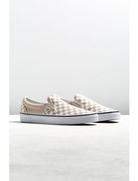 Vans Slip On Tan Checkerboard Sneaker by Vans