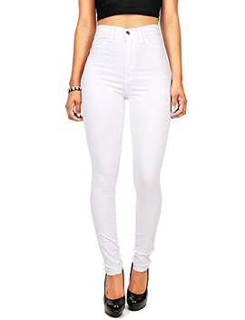 Vibrant Women's Juniors Classic High Waist Denim Skinny Jeans by Vibrant