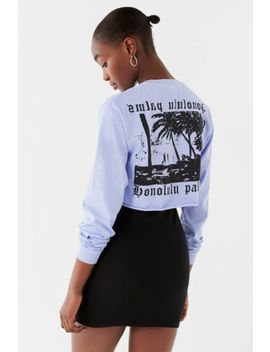 Honolulu Cropped Long Sleeve Tee by Urban Outfitters