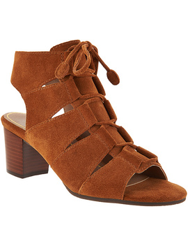 "<Div Class=""Pd Short Desc Label"">Make Your Selection:</Div> Vionic Suede Lace Up Sandals   Bristol by Qvc"