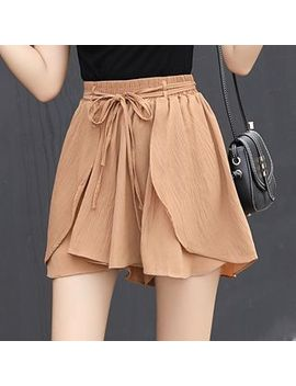 Plain Chiffon Shorts by Tabla