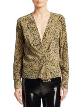 Shields Leopard Print Blouse by Rag & Bone