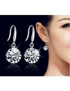 Hot Fashion Jewelry 925 Silver Earrings Female Crystal From Swarovski New Woman Name Earrings Twins Micro Set  by Ousnow