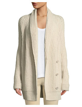 Shawl Collar Wool Blend Cardigan by Vince
