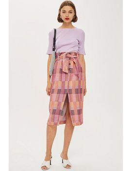 Multicoloured Jacquard Midi Skirt by Topshop