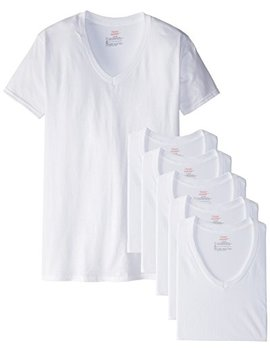 Hanes Men's White Assorted V Neck T Shirts by Hanes