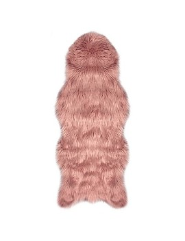 "Jean Pierre Faux Fur 1'10"" X 5' Runner In Blush by Bed Bath And Beyond"