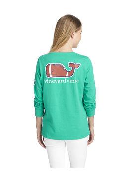 Long Sleeve Classic Football Whale Tee by Vineyard Vines