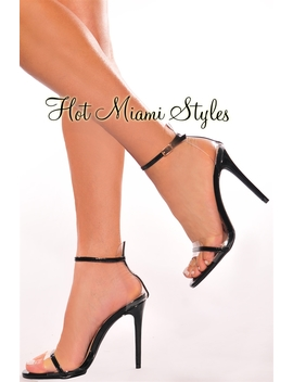 Black Clear High Heels by Hot Miami Style