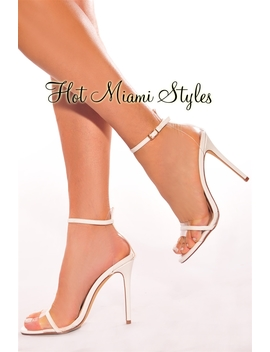 White Clear High Heels by Hot Miami Style