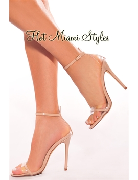 Nude Clear High Heels by Hot Miami Style