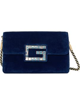 Small Broadway Velvet Shoulder Bag by Gucci