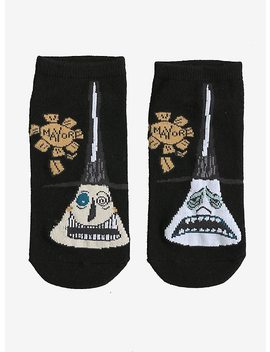 The Nightmare Before Christmas Mayor Of Halloween Town Faces No Show Socks by Hot Topic