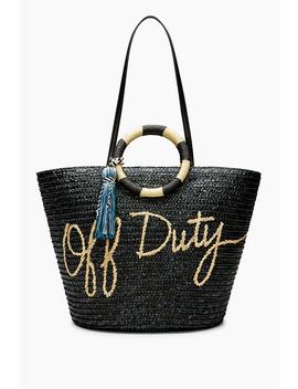Straw Tote   Off Duty by Rebecca Minkoff