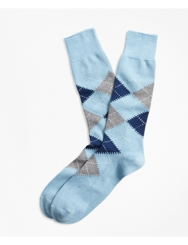 Argyle Crew Socks by Brooks Brothers