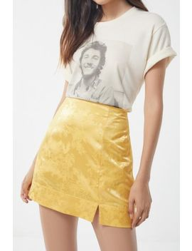 Uo Satin Notch Mini Skirt by Urban Outfitters