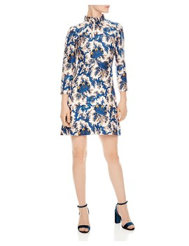 Utopique Printed Silk Dress by Sandro