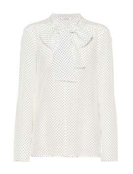 Adelmo Polka Dot Silk Blouse by Max Mara