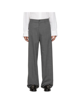 Grey Suit Wind Trousers by Hope