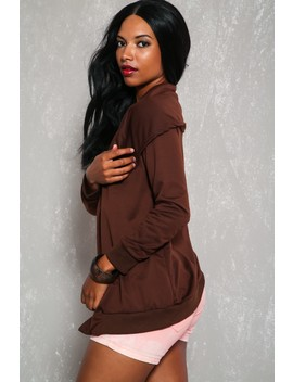 Sexy Coffee Long Sleeve Overlay Layered Sweater by Ami Clubwear