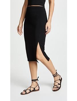 High Waist Slit Skirt by Susana Monaco