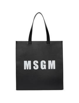 Black Logo Tote Bag by Msgm