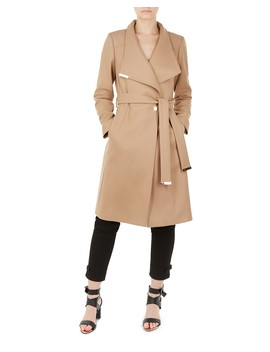 Sandra Belted Wrap Coat by Ted Baker