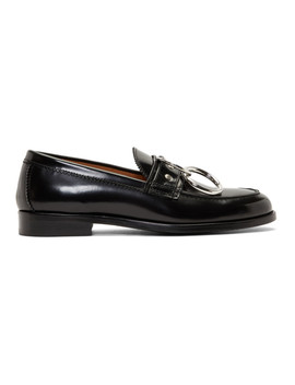 Black Patent Patty Ring Loafers by Hope