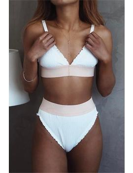 Simple Frilled 2 Pieces Bikini by Lupsona
