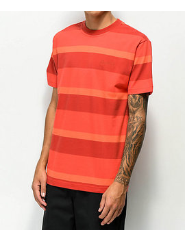 4 Hunnid Red On Red Stripe T Shirt by 4 Hunnid