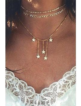 Little Stars Tassels Choker Necklace by Lupsona