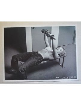 Marilyn Monroe Lifting Weights 18 X24 Vintage  Poster B&W by Ebay Seller