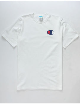 Champion Screen Logo White Mens T Shirt by Champion