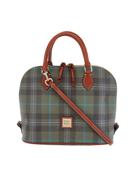 Dooney &Amp; Bourke Tiverton Plaid Zip Zip Satchel Handbag by Qvc