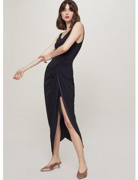 Black Twist Front Maxi Dress by Miss Selfridge