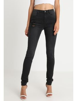 Sinner High Waisted Clean Distress   Jeans Skinny by Missguided