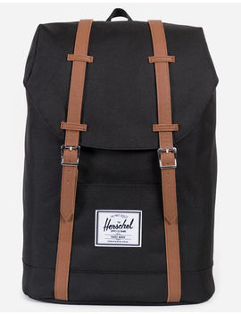 Herschel Supply Co. Retreat Raven Black/Tan Backpack by Herschel Supply Co.