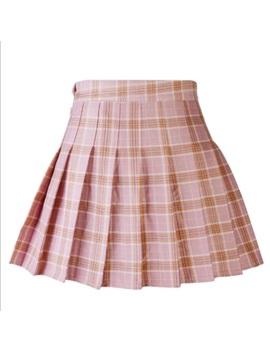 Uk Summer Women Pleated Skirt Girl High Waist Skirt Short Mini Plaid Skirt Dress by Ebay Seller
