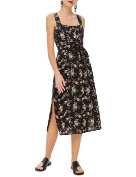 Floral Pinafore Midi Dress by Topshop
