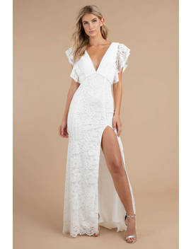 Feel For You White Lace Maxi Dress by Tobi