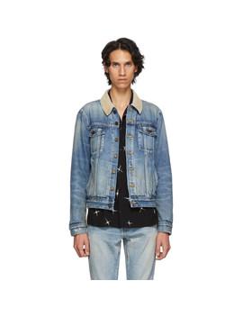 Blue Rusty Denim Jacket by Saint Laurent