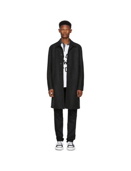 Grey Pressed Wool Mac Overcoat by Harris Wharf London