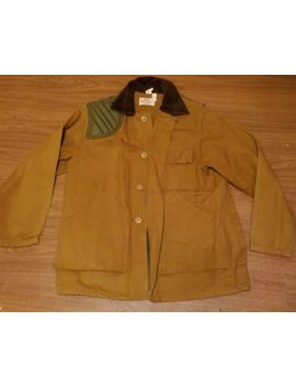 Rare Vintage Saf T Bak Hunting Jacket Usa Mens Large Duck Cotton Brown W/Game Bag by Saf T Bak