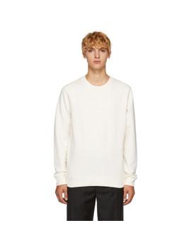 White Loopback Sweatshirt by Sunspel