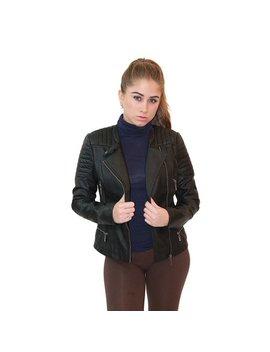 Olivia Miller Women Zip Up Moto Faux Leather Jacket by Olivia Miller
